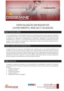 especialização em requisitos levantamento, análise e
