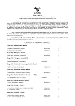 1° Convocação - Companhia de Saneamento de Alagoas
