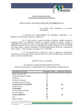 PREFEITURA MUNICIPAL - Prefeitura de Mineiros