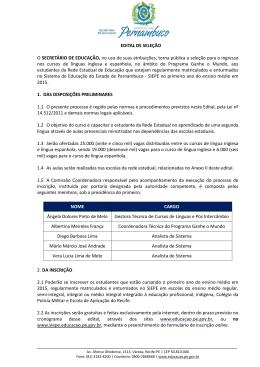Ofício Nº /2013–GAB/SEE-PE - Governo do Estado de Pernambuco