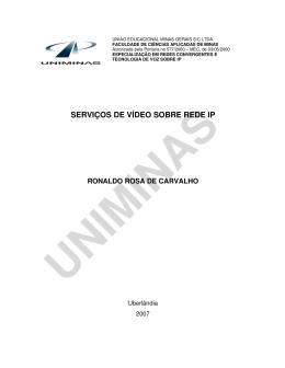 SERVIÇOS DE VÍDEO SOBRE REDE IP