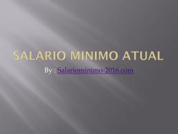 By : Salariominimo-2016.com