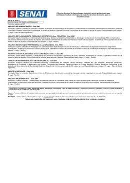 ANALISTA DE ADMINISTRAÇÃO - Cód. 0281 Formação