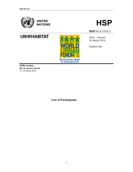 UNITED NATIONS List of Participants - UN