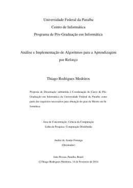 Modelo LaTeX para DissertaÍłes de Mestrado no Programa