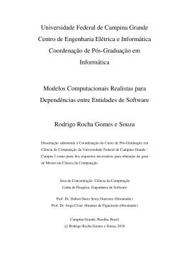 Modelos Computacionais Realistas para Dependências entre