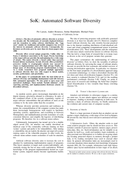 SoK: Automated Software Diversity