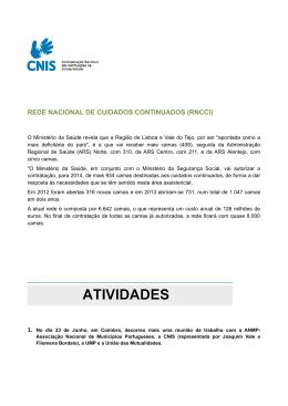 REDE NACIONAL DE CUIDADOS CONTINUADOS