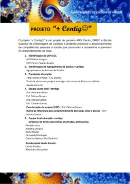 Projeto +contigo - apresentação - Agrupamento de Escolas de Anadia