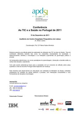 Conferência As TIC e a Saúde no Portugal de 2011