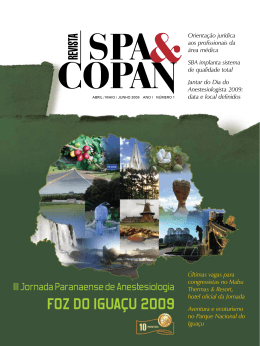 nº 1 - Revista SPA & COPAN