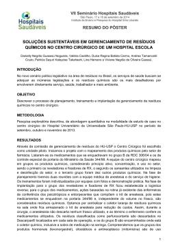 resumo - Projeto Hospitais Saudáveis