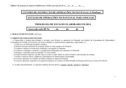 Aprovado pelo BI Nr , de de de CENTRO DE INSTRUÇÃO DE