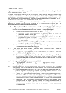 Este documento não substitui o original aprovado pelo Conselho de