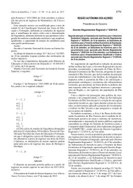 Decreto Regulamentar Regional n.º 6/2015/A