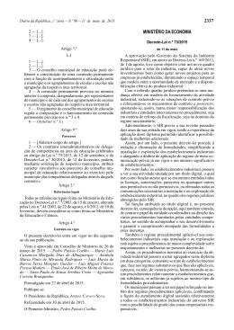 Decreto-Lei n.º 73/2015