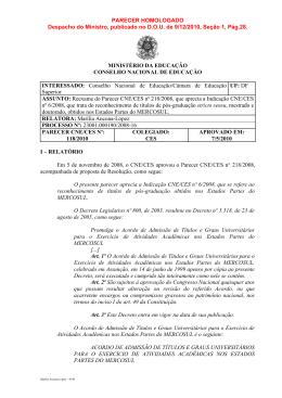 Parecer CNE/CES nº 118/2010 - Ilae - Instituto Latino Americano de