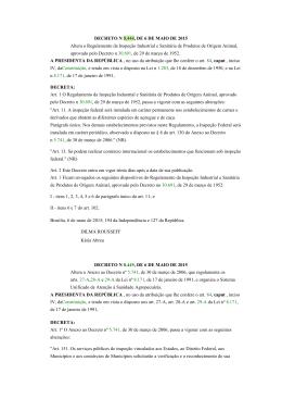 DECRETO N 8.444, DE 6 DE MAIO DE 2015 Altera o Regulamento