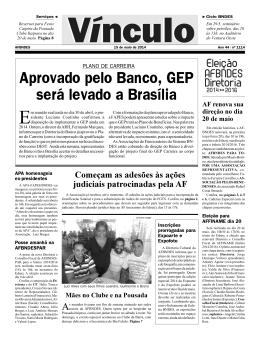 Aprovado pelo Banco, GEP será levado a Brasília