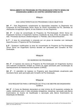 COMUNICADO R-01/2003 - Centro Universitário FEI
