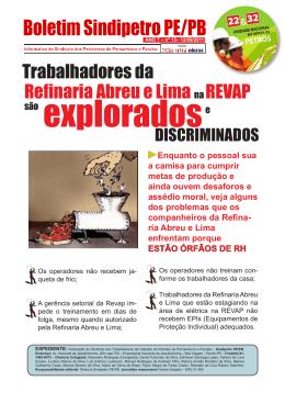 Refinaria Abreu e Lima na REVAP - Sindipetro