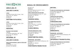 MANUAL DE CREDENCIAMENTO