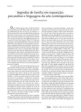psicanálise e linguagens da arte contemporânea