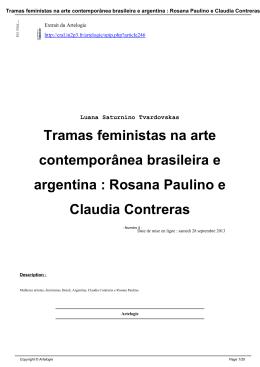 Tramas feministas na arte contemporânea brasileira e