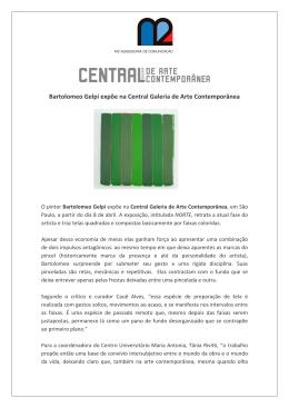 Bartolomeo Gelpi expõe na Central Galeria de Arte Contemporânea