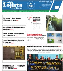 Jornal Outubro.indd - CDL Meriti Câmara de Dirigentes Lojistas de