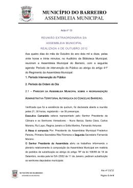 Nº 13 / 2012 - Câmara Municipal do Barreiro
