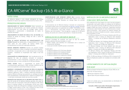 CA ARCserve® Backup r16.5 At-a
