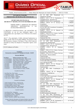 Paraíba , 04 de Fevereiro de 2011 • Diário Oficial dos Municípios do