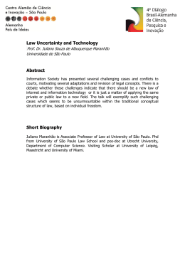 Law Uncertainty and Technology Abstract Short Biography