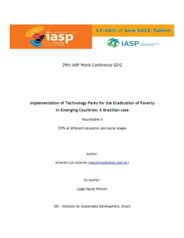 Implementation of Technology Parks for the Eradication of Poverty