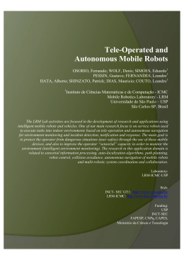 Tele-Operated and Autonomous Mobile Robots