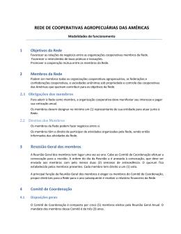 REDE DE COOPERATIVAS AGROPECUÁRIAS DAS