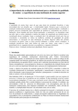 A importância da avaliação institucional para a melhoria