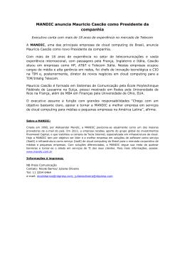 MANDIC anuncia Mauricio Cascão como Presidente da companhia