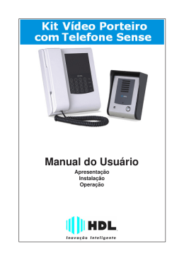 Manual Video Porteiro com Telefone Sense
