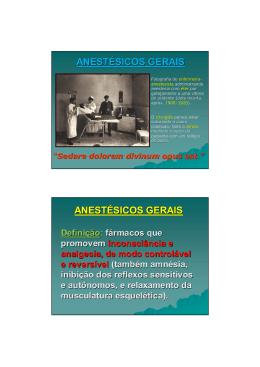 Anestesicos Gerais Prof Lara 11-05-2015