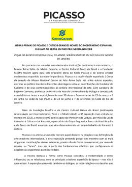 Picasso e a Modernidade Espanhola, 2015_release
