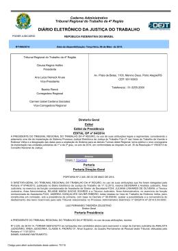 07 - Tribunal Regional do Trabalho da 4ª Região