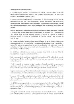 Vereador Antonio Candeias_Curriculum Vitae