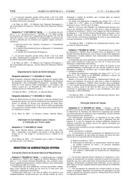 9588 MINISTÉRIO DA ADMINISTRAÇÃO INTERNA