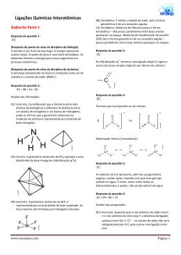 SoluçãoLigações Químicas InteratômicasXX