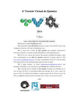 1º Fase - Torneio Virtual de Química