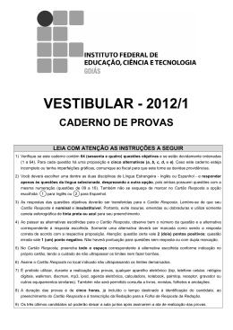 Prova - Vestibular 2012-1