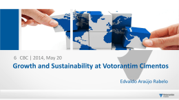 Growth and Sustainability at Votorantim Cimentos