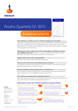 Poultry Quarterly Q1 2015